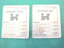 Gioco MONOPOLI vintage in lire CARTE STAZIONE EST OVEST