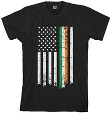 Irish American Flag Men's T-Shirt St Patricks Ireland USA