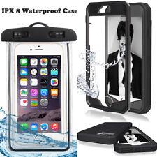 Black Carbon Fiber Armor Hybrid Stand Case Cover for iPhone 8 8plus 7 7plus 6 6S