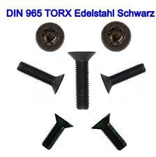Senkschrauben DIN 965 TORX Edelstahl Schwarz M3 M4 M5 M6  schwarzer Senkkopf 👍