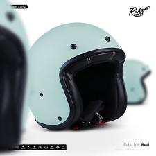 REBEL R9 Basil / CASQUE-JET DE MOTO SCOOTER RETRO VESPA CYCLOMOTEUR ECE XS-XL