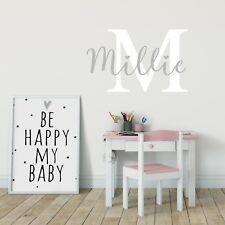 Custom Name Personalised Nursery Art Wall Decal Kids Baby Bedroom Wall Sticker