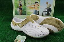 Ladies Dawgs Spirit Leisure/Fitness/Casual Sport Shoes White Tan 4,7,8,9  BNIB
