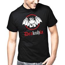 Drakuhla | Dracula | Vampir | Kuh | Fun | Comic | Sprüche | S-XXL T-Shirt