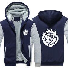 RWBY Ruby Rose Hoodie Rose Print Coat Winter Fleece Jacket Warm Sweatshirt