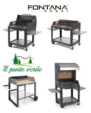 BARBECUE A LEGNA FONTANTA FORNI MADE IN ITALY 100% GIARDINO GRIGLIATA