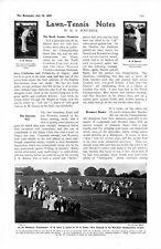 1905 ARTICLE LAWN TENNIS BARRETT BURTON KINZL BROOKES
