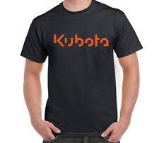 KUBOTA Men's Black Orange T-SHIRT Tee