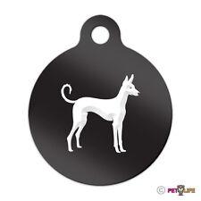 Ibizan Engraved Keychain Round Tag w/tab v2 hound Many Colors