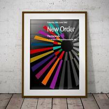 New Order First Hacienda Gig Sumner Hook  Framed or 3 Print Options EXCLUSIVE