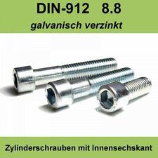 M3 DIN 912 Zylinderschraube Innensechskant Zylinder Kopf Schrauben verzinkte M3x
