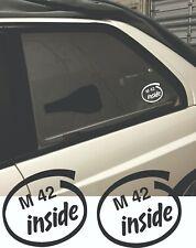 M42 Inside sticker BMW E30 E28 E34 M20B20 M20B23 M20B25 All e30 M tech M technic