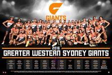 2016 GWS Gaints Official AFL Licensed Team Poster Print Only or Framed