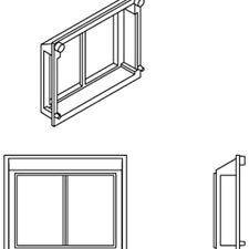 Athearn ATHG68221 HO Scale All-Weather Window Set, 2 Pane/Steep/Angle (6)