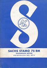 Sachs Stamo 75 RM Rasenmäher Motor Handbuch Stationärmotor Betriebsanleitung