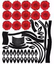 Wall Deco Sticker RED GERBERA 173-PS58011 - M