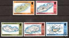 ALDERNEY # 37-41 MNH MAPS SURVEYS