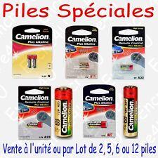 Piles Spéciales : LR1 LADY LR11A LR23A LR27A LR32A - Vente à l'unité ou par lot