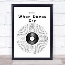 Glory Of Love Grey Man Lady Dancing Song Lyric Wall Art Print