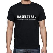 basketball sport-health-spirit-success Tshirt Col Rond Homme T-shirt