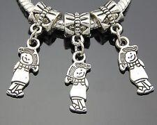 30pcs Tibetan Silver Tone Girl Dangle Charms Beads Fit European Bracelet ZY34