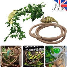 1-3M Reptile Vivarium Realistic Jungle Plant Vine Decor For Lizard and Chameleon