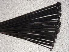 36 Custom length 12g (2.6mm) Black spokes with Silver spoke nipples
