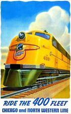 191143 Vintage Train Travel Wall Print Poster CA