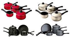 5pc Belly Pan Set Non-Stick Carbon Steel Bakelite Handles Cookware - 4 Colours