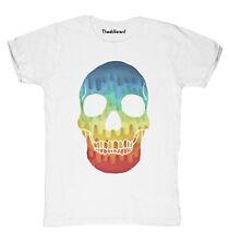 Nuevo camiseta Fuego Hombre Calavera Multicolor Idea De Regalo
