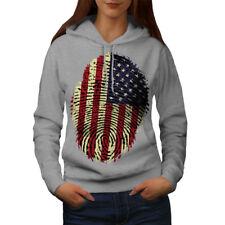 American Fingerprint Women Hoodie NEW   Wellcoda