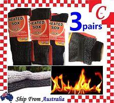 3Prs MEN MENS Thick Winter Warm Thermal HEATED Heat Cushion WORK SOCKS Bulk