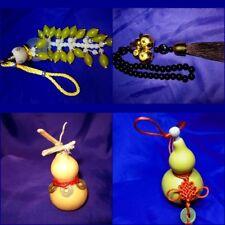 FSH357 Feng Shui Calabash/Wu Lou/Hulu Seed/Glass/Gold Gourds