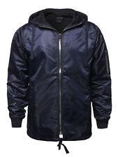 FashionOutfit Men's Casual Solid Color Zipper Detail Waterproof Windbreaker