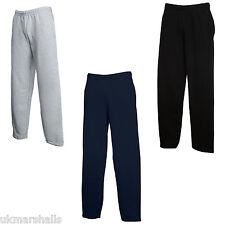 Fruit of the Loom Open Hem Jog Pants Tracksuit Bottoms -Sweatpants Jogs Track