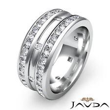 1.75Ct Princess Round Diamond 9mm Men's Ring Wedding Eternity Band White Gold