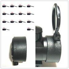 1pc Black Scope Lens Cover Flip Open Rifle Scope Lens Flip up Cap Covers