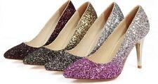 Décollte Zapatos zapatos de salón mujer talón perno 9 cm tacón de aguja strass