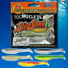 Fishing Soft Lure 7.5cm 3'' Jig Head Weedless Bait Offset Hook Pike Perch Kopyto