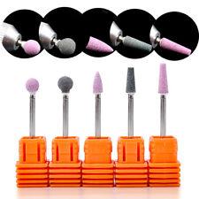 "Ceramic Stone Nail Drill Bit 3/32"" Rotate Burr Cuticle Clean Mill Manicure Tools"
