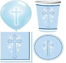 Blue Boy Baptism Communion Party Celebration Decoration Table Ware Christening