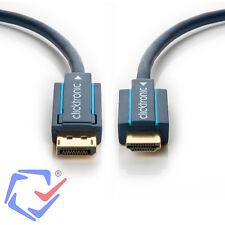 DisplayPort auf HDMI Kabel Adapter Konverter 1080p Full HD vergoldete Stecker