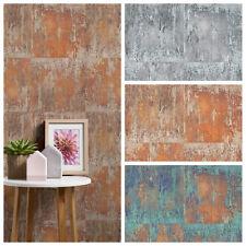Vliestapete Metall Stein Beton Optik terra rost patina petrol türkis grau