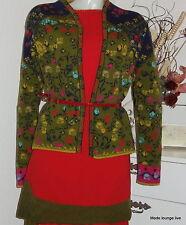 Ivko jacket  Floral Pattern Strick-Jacke lamm-Wolle Blumen-Muster marine 42512