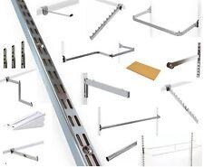 Wardrobe Shelving & Storage System Twin Slot Upright Clothes Rail Garment Rack