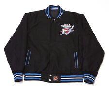 MEN'S NBA OKC THUNDER REVERSIBLE VARSITY JACKET THU103REV0 BLACK (MSRP $150)