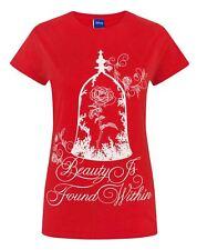 Disney Beauty And The Beast Enchanted Rose Women's Slogan T-Shirt