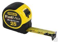 1) 25' STANLEY FATMAX TAPE RULE MEASURE 33-725 FAT MAX