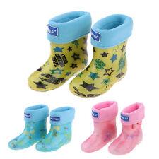 Wellies Kids Rain Rainy Snow Boots Shoes Socks Children Baby Boys Girls