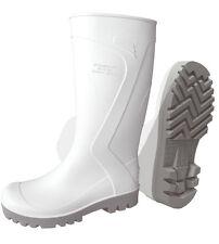 weiße Gummistiefel, Pvc, Textilfutter Gr.39-47, EN20347 PVC-Stiefel Lebensmittel